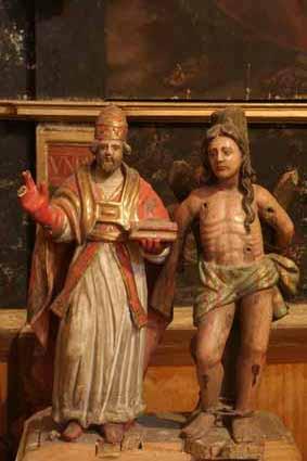 San Fabián y San Sebastián en la iglesia de Villahermosa del Campo